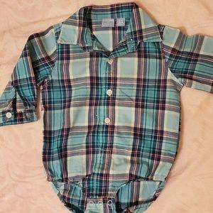 Adorable Plaid Long Sleeve Onesie/Bodysuit